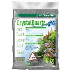 Dennerle Crystal Quartz Gravel 1-2 мм, сланцево-серый