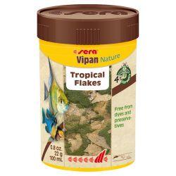 SERA Vipan Nature 100 мл – Натуральный основной корм, хлопья