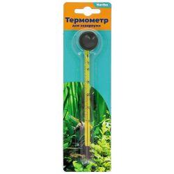 Термометр Naribo стеклянный тонкий на присоске 15см