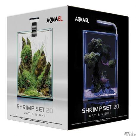 AQUAEL SHRIMP SET DAY & NIGHT 20 – Аквариумный набор 19 л черный