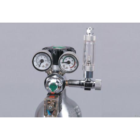 Редуктор ISTA СО2 с электромагнитным клапаном, счётчиком пузырьков и обратным клапаном