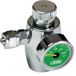Регулятор ISTA СО2 с манометром, предохранительным клапаном для одноразовых картриджей