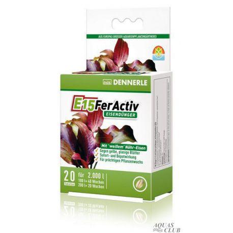 Dennerle E15 FerActiv - Железосодержащее удобрение в таблетках, 10 шт. на 1000 л